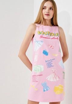 Платье, Boutique Moschino, цвет: розовый. Артикул: BO036EWYWF69. Одежда / Платья и сарафаны