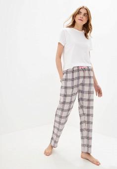 68d68bb7fcb7c Пижама, Brave Soul, цвет: белый, серый. Артикул: BR019EWFMJI3. Одежда