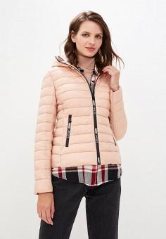 Куртка утепленная, B.Style, цвет  розовый. Артикул  BS002EWCRHP9. B 71c3df6ad0f