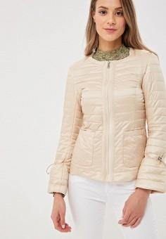 a087bddc2e287 Куртка утепленная, B.Style, цвет: бежевый. Артикул: BS002EWEWER1. Одежда