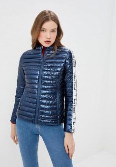 3505eb70 Куртка утепленная, B.Style, цвет: синий. Артикул: BS002EWEWET2. Одежда