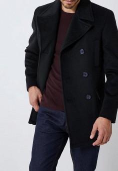 Пальто, Burton Menswear London, цвет  черный. Артикул  BU014EMDMJH0. Одежда    247367ad04c