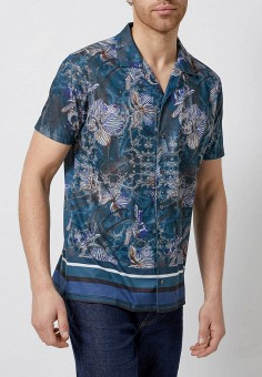 8c0413e3c5fcbcc Рубашка, Burton Menswear London, цвет: синий. Артикул: BU014EMFIHW4. Одежда  /