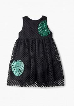 357cfb385eef9f2 Платье, Button Blue, цвет: черный. Артикул: BU019EGECNB9. Девочкам / Одежда