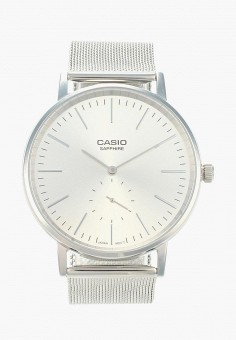 Часы, Casio, цвет  серебряный. Артикул  CA077DUBEZF0. Аксессуары   Часы 12248c4f4d5