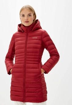 b6944c4c9e9a Пуховик, Calvin Klein, цвет: бордовый. Артикул: CA105EWFGWV9. Одежда /  Верхняя