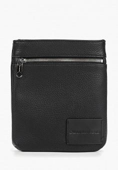 26a555244a41 Сумка, Calvin Klein Jeans, цвет: черный. Артикул: CA939BMETJG4. Аксессуары /