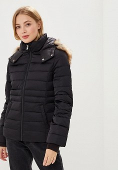 58ed807c9 Пуховик, Calvin Klein Jeans, цвет: черный. Артикул: CA939EWBTJQ7. Одежда /