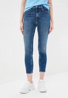 08cede1797bc1 Джинсы, Calvin Klein Jeans, цвет: синий. Артикул: CA939EWETJC9. Одежда /