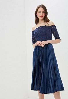 6cb16e413d4ad1a Платье, Chi Chi London, цвет: синий. Артикул: CH041EWEWQA5. Одежда /
