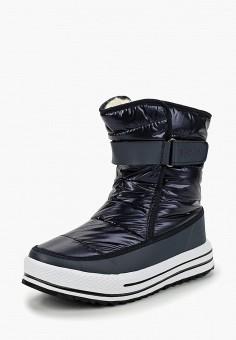 Дутики, Crosby, цвет  синий. Артикул  CR004AWCIFO9. Обувь   Сапоги   88049b6afe8