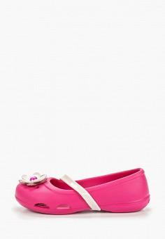 f191ad557d13d6 Туфли, Crocs, цвет: розовый. Артикул: CR014AGEMXT9. Девочкам / Обувь /