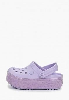 8d465f22b67d04 Сабо, Crocs, цвет: фиолетовый. Артикул: CR014AGEMXW5. Девочкам / Обувь