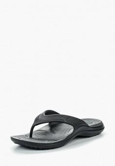 7741d127d271 Сланцы, Crocs, цвет  черный. Артикул  CR014AUREC70. Обувь   Резиновая обувь