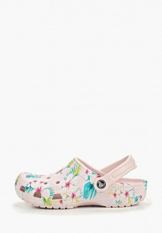f011fe001 Сабо, Crocs, цвет: розовый. Артикул: CR014AWEMIN1. Обувь / Резиновая обувь