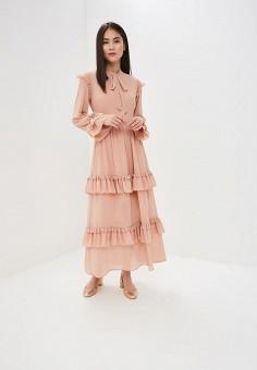 1dafde4953ec7f3 Платье, Danity, цвет: бежевый. Артикул: DA023EWEIRK5. Одежда / Платья и