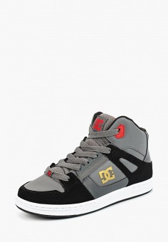 Кеды, DC Shoes, цвет: серый. Артикул: DC329ABCFCJ8. Мальчикам / Спорт