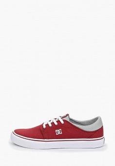 64b6981ce Кеды, DC Shoes, цвет: бордовый. Артикул: DC329AUEDES7. Обувь / Кроссовки