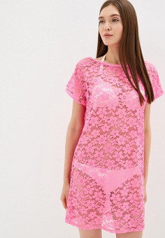 2fa8509384a6e71 Туника пляжная, Дефиле, цвет: розовый. Артикул: DE020EWFNYB2. Одежда /  Купальники
