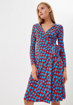 Платье, Diane von Furstenberg, цвет: мультиколор. Артикул: DI001EWBSVT2. Одежда / Платья и сарафаны