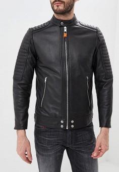 Куртка кожаная, Diesel, цвет  черный. Артикул  DI303EMDJSC0. Diesel 0a6fd46b5e4
