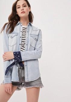 c0276f3a Рубашка джинсовая, Diesel, цвет: голубой. Артикул: DI303EWDJUL7. Одежда /  Блузы