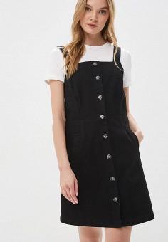 f3acdb006694fe6 Платье джинсовое, Dorothy Perkins, цвет: черный. Артикул: DO005EWFDUZ4.  Одежда /
