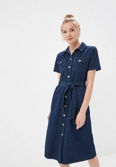 58fe027c7f526ca Платье джинсовое, Dorothy Perkins, цвет: синий. Артикул: DO005EWFDUZ5.  Одежда /