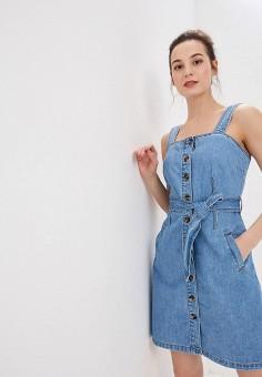 2c3205e4c4bc3ed Платье джинсовое, Dorothy Perkins, цвет: голубой. Артикул: DO005EWFDUZ7.  Одежда /