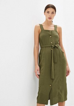 4ae8684c1049569 Платье, Dorothy Perkins, цвет: хаки. Артикул: DO005EWFJSJ3. Одежда / Платья