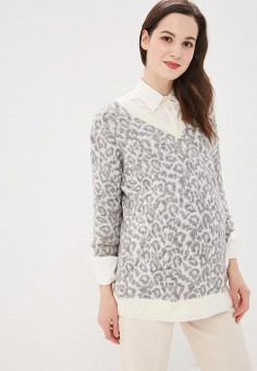 Пуловер, Dorothy Perkins Maternity, цвет: серый. Артикул: DO028EWDOGX4. Dorothy Perkins Maternity