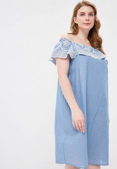 8532c69b19775 Платье, Dorothy Perkins Curve, цвет: голубой. Артикул: DO029EWFGLW0. Одежда  /