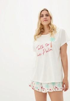 55fa92c068065 Пижама, Dorothy Perkins Curve, цвет: белый. Артикул: DO029EWFMGC4. Одежда /