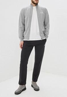 1587574ecc62 Костюм спортивный, EA7, цвет: серый, черный. Артикул: EA002EMDQWT9. Одежда