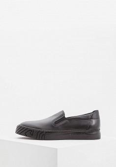 Слипоны, Emporio Armani, цвет  черный. Артикул  EM598AMBLJH8. Premium    Обувь 12f44e8fc73