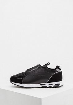 Кроссовки, Emporio Armani, цвет  черный. Артикул  EM598AMDPVU3. Обувь 178c010954c
