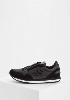 250025bd61ebb Кроссовки, Emporio Armani, цвет: черный. Артикул: EM598AMZWB41. Обувь