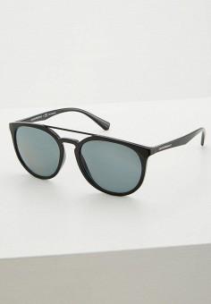 Очки солнцезащитные, Emporio Armani, цвет  черный. Артикул  EM598DMZAV51.  Аксессуары   9986ba5419e