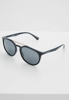 Очки солнцезащитные, Emporio Armani, цвет  синий. Артикул  EM598DMZAV53.  Premium   1d2a8b6d5f7