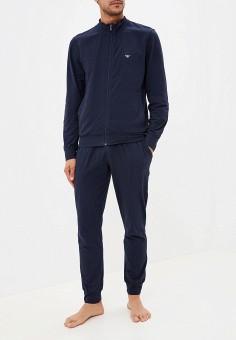3977d57a309e Пижама, Emporio Armani, цвет: синий. Артикул: EM598EMFOWG1. Одежда /  Домашняя