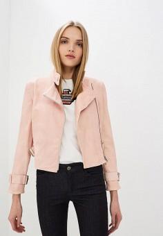Куртка кожаная, Emporio Armani, цвет  розовый. Артикул  EM598EWDPUM2. Emporio  Armani 12e7e46e5c5