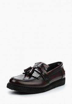 Лоферы, Fred Perry, цвет  бордовый. Артикул  FR006AMUID53. Обувь   Туфли b6955435083