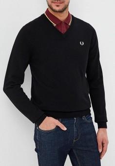 301e7329762a7 Пуловер, Fred Perry, цвет: черный. Артикул: FR006EMDRRO2. Одежда / Джемперы