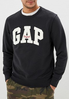 Свитшот, Gap, цвет  черный. Артикул  GA020EMBSZV9. Одежда   Толстовки и 5d894829b84