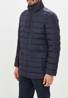 e8f71625b3097 Куртка утепленная, Geox, цвет: синий. Артикул: GE347EMBWSX3. Одежда /  Верхняя