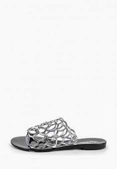 b46e552ad Сланцы, GLAMforever, цвет: серебряный. Артикул: GL854AWECIO4. Обувь /  Резиновая обувь