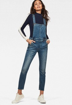 417a2cc92 Комбинезон джинсовый, G-Star, цвет: синий. Артикул: GS001EWEEMN1. Одежда