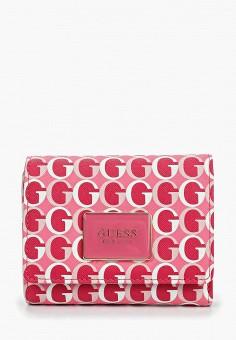 1635996d414c Кошелек, Guess, цвет: розовый. Артикул: GU460BWEANY1. Аксессуары / Кошельки  и