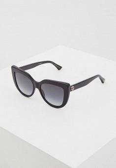 Очки солнцезащитные, Gucci, цвет  черный. Артикул  GU641DWZAS32. Аксессуары    Очки 75e53777764