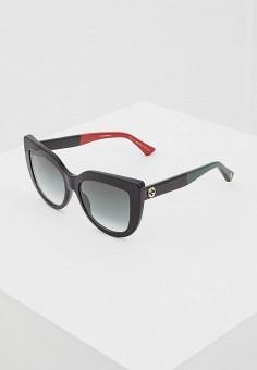 Очки солнцезащитные, Gucci, цвет  черный. Артикул  GU641DWZAS45. Аксессуары    Очки a5e4e8eba05